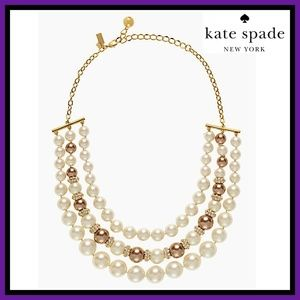NWT Kate Spade Parlour Pearls Necklace